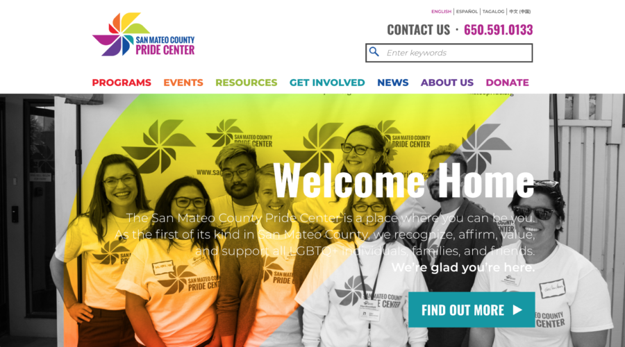 Pride Center Website Launch!